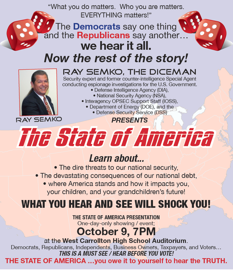 Ray Semko The State of America flyer